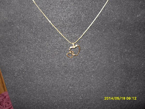 "10kt yellow gold ""Double Heart"" Pendant (Chain not included)"