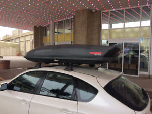 Yakima SkyBox 18 Carbonite Roof Travel Cargo Box - For Rent