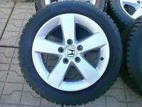 """Set Mags Honda Civic16"""" d'origine/pneus hiver 205 55 R16 Gislave"""
