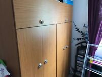 2 x double wardrobes and dressing unit set