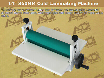 Techtongda14 360mm Manual Vinyl Film Mounting Laminating Machine Cold Laminator