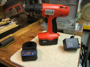 18 Volt Drill Battery and Charger (drill burned out)