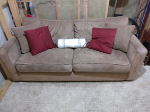 Great Suede Couch Set with Pillows