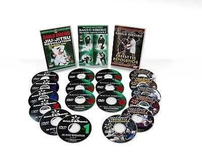 Saulo Ribeiro : Brazilian Jiu-Jitsu 3 DVD Set Combo!!