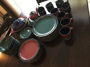Denby Harlequin set of fifty pieces - Used but in amazing shape! Kitchener / Waterloo Kitchener Area image 2