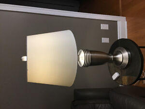 1 living-room corner extension lamp and 2 side table lamps