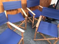 Four directors chairs