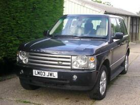 Land Rover Range Rover Vogue 4.4 V8 Automatic 2003 Met Blue/Cream Leather