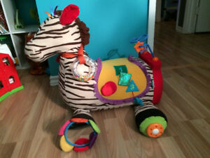 K's Kids plush zebra sit on toy
