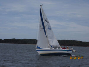 Tanzer 22 sailboat with trailer and outboard