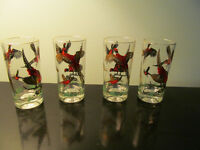 8 tall glasses vintage see patherns excellent like new condition