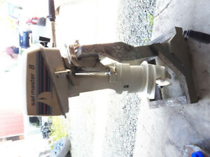 Moteur johnson 8hp pied long 1985