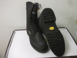 WiNTER BOOTS NEW ARMY-TYPE LEATHER (safety-toe)non-metal Sz 12.5
