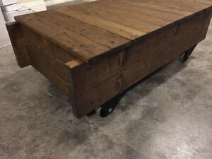 Handcrafted Rustic Custom End Tables, Sofa, Hallway, Harvest &