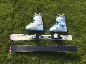90cm junior skis with boots