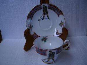 "Vintage ""Bonnie Scotland"" Clan Cameron Cup and Saucer"