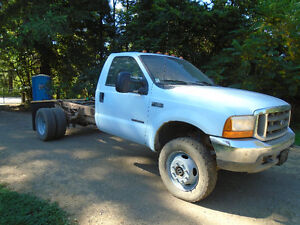 2000 Ford F450 4x4 7.3 diesel cab / chassis
