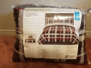 Two - New 6 Piece Twin Bed Comforter Sets, $25 & $35