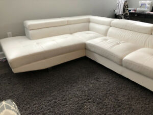 Modern white sectional