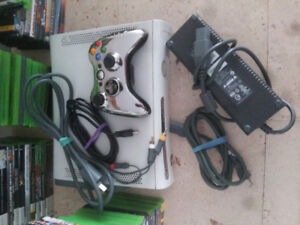 X-Box 360 with a lot of games.