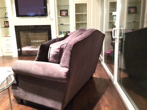 New 3 Piece Studded High Back Custom Grey Couch Set London Ontario image 9