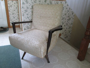 Mid Century swivel rocker arm chair