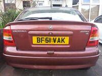Vauxhall Astra 51 plate 1.6 petrol