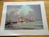 Rowland Hilder-Calm Water, Still Sails limited edition