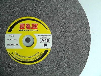 "Aluminum Oxide BENCH GRINDING WHEEL VITRIFIRD 6/"" x 1/"" x 1/"" 60 Grit Bench Grinder"