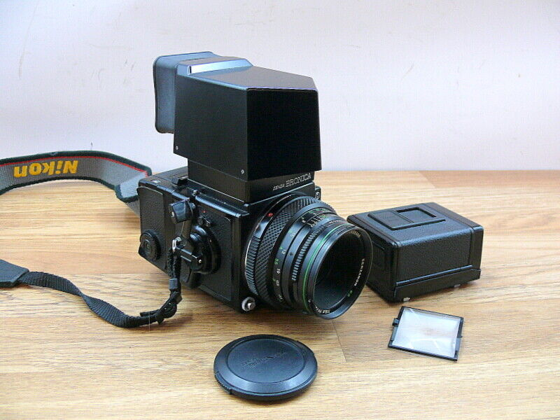 Bronica ETRs with lens and some extras. See description.