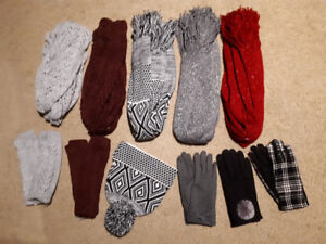 **ALL NEW WITH TAGS** WINTER WEAR, TOQUES, SCARVES, GLOVES