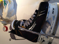 Hockey equipment.