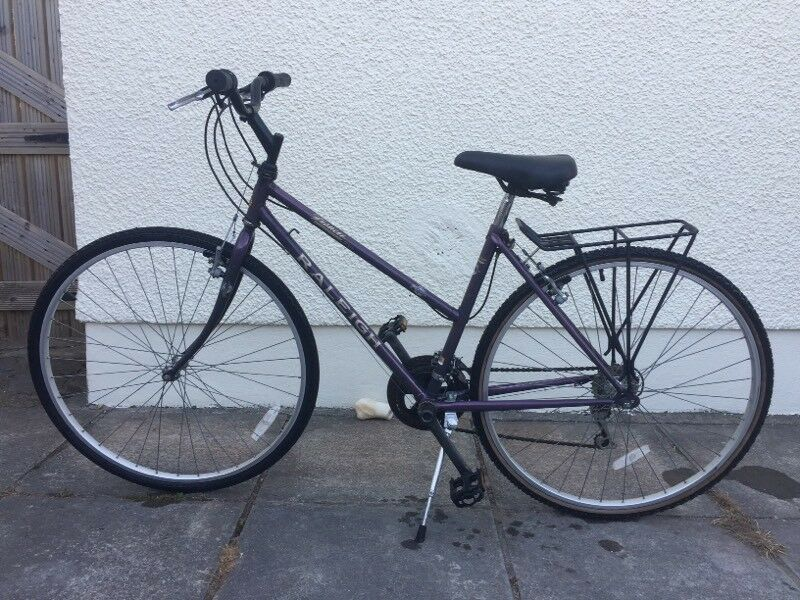 Raleigh Pioneer Jaguar ladies bikein Llanelli, Carmarthenshire - 12 speed shimano gears, comfort saddle, rear carrier & bike stand fitted. £25 ono