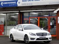 2012 62 MERCEDES-BENZ C CLASS C180 1.6 BLUEEFFICIENCY AMG SPORT PLUS 2DR 154 BHP