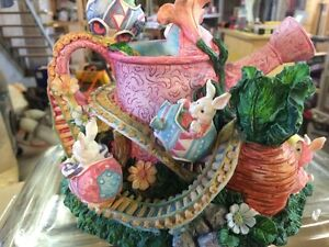 Easter Bunny Porcelain Musical Box