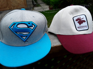 New Superman and moosehead hats .. runnymede subway