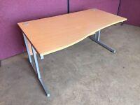 Modern beech 1600 office desk delivered to Belfast