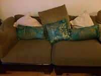 Two modular sofas and large footstool REDUCED £200