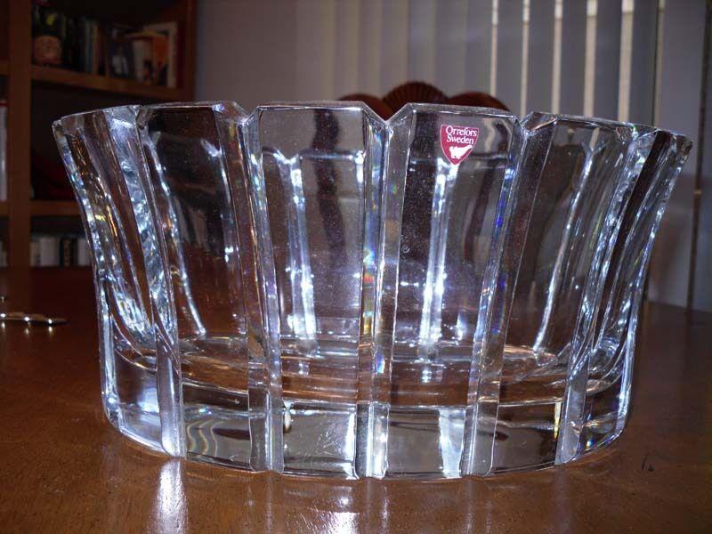Large Crystal Orrefors Bowl
