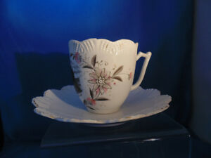 London Ont Old Mustache tea cup showing old Post office London Ontario image 2