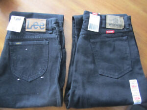 Levi and Lee black men's jeans