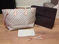 Louis Vuitton cream medium with purse