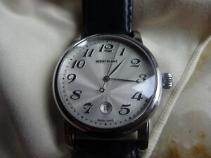 Stunning Montblanc Star XL 40mm Leather Mont Blanc Watch