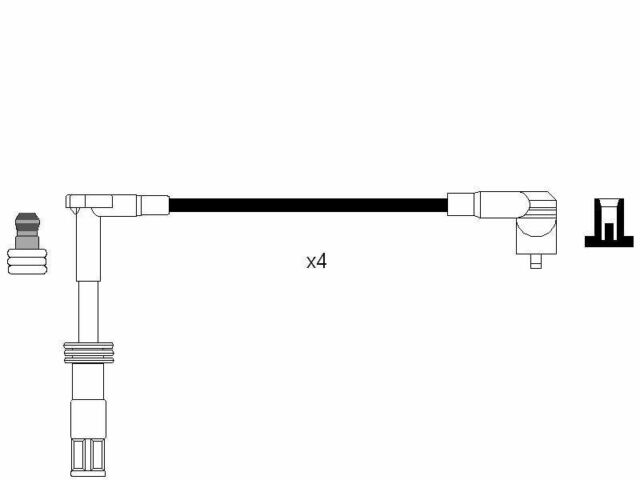VE522186 Ignition Lead Set fits ALFA ROMEO
