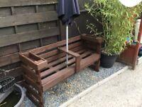Garden bench rustic looking