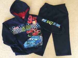Boy's Cars Sweatsuit - Size 4T