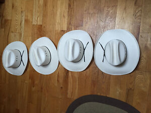 White Cowboy Hats- GREET for a family or 4 close freinds