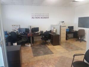 Espace de bureau à louer avec nombreuses possibilités