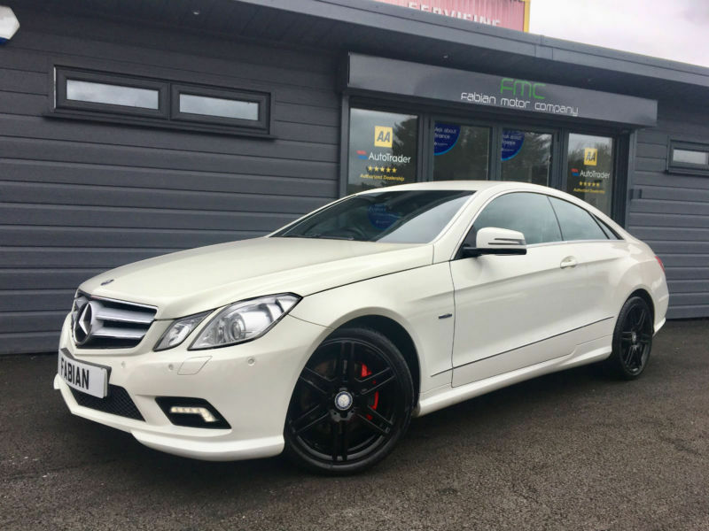 2010 mercedes benz e350 cdi auto sport amg white black leather in swansea gumtree. Black Bedroom Furniture Sets. Home Design Ideas