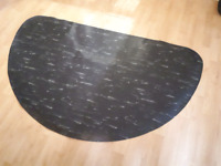 Mat for salon chair hair stylist